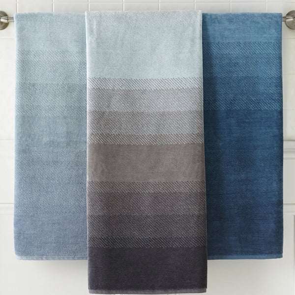 Pics photos bath towel bold stripe ombre decorate your bathroom and