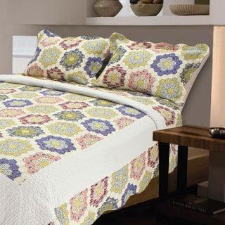 Honeycomb Cotton Patchwork 3-Piece Quilt Set