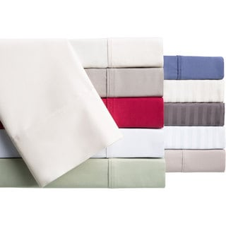Brielle Egyptian Cotton 400 Thread Count Sateen Sheet or Pillowcase Set