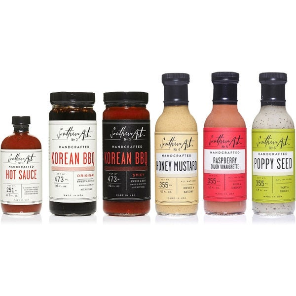 Southern Art Premium Condiments Gift Set (Set of 6)
