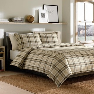Eddie Bauer Edgewood Plaid Flannel 3-piece Duvet Cover Set