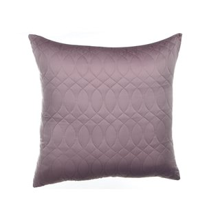 Nicole Miller NY Splendid Purple Quilted European Accent Pillow