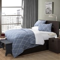 Lush Decor Stitched Lattice Geometric 3-piece Quilt Set