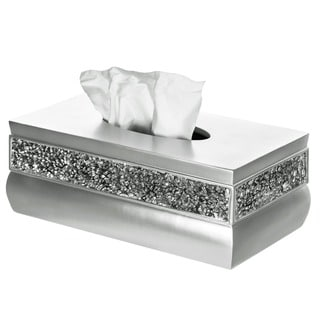 Rectangular Brushed Nickel Tissue Box