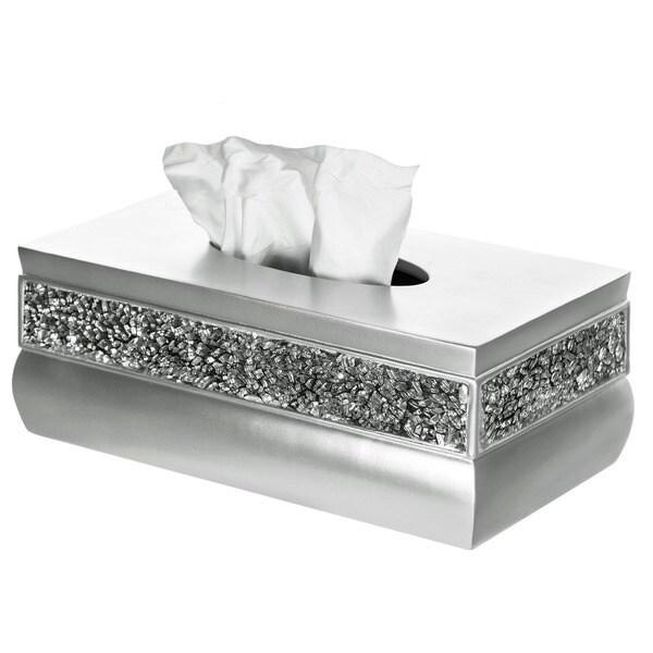 Rectangular Brushed Nickel Tissue Box 13884949
