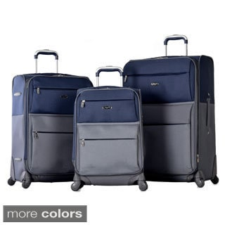 Olympia 'Mediterranean' 3-piece Expandable Spinner Lightweight Luggage Set