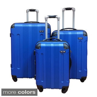 Kemyer Lightweight 3-piece Hardside Spinner Luggage Set