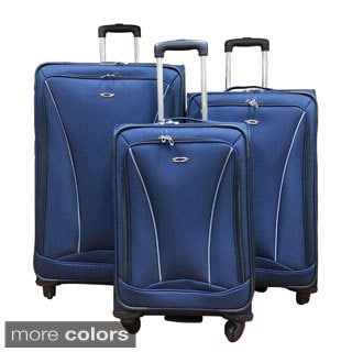 Kemyer Lightweight 3-piece Expandable Spinner Luggage Set