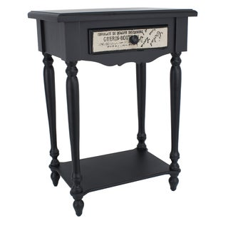 Black Eased Edge Side Table