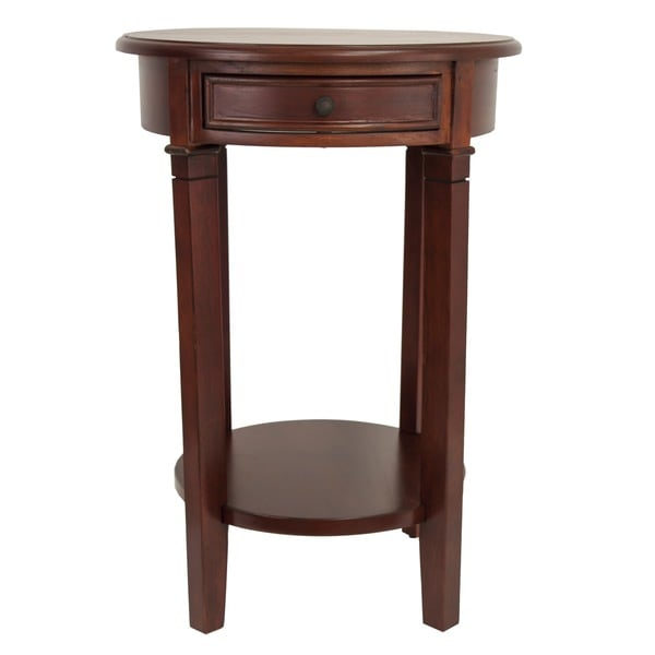 Tobacco Finish Side Table