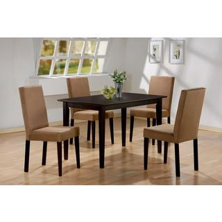 Emily Deep Mocha Colonial 5-piece Dining Set