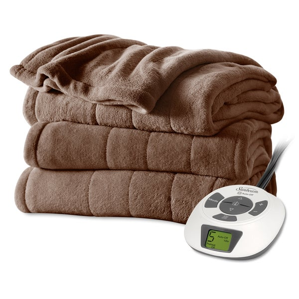 Sunbeam Cocoa Plush Electric Blanket