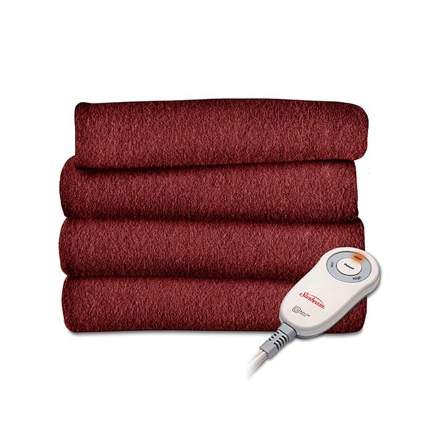 Garnet Fleece Heated Throw Blanket