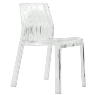 Denville Transparent Clear Modern Dining Chair