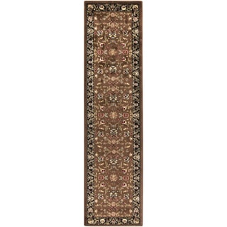 Meticulously Woven Spalding Traditional Border Runner (2' x 7'5)
