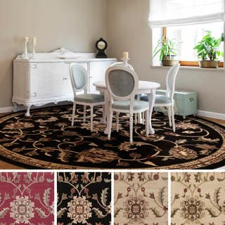 Meticulously Woven Lanier Floral Polypropylene Rug (8' Round)