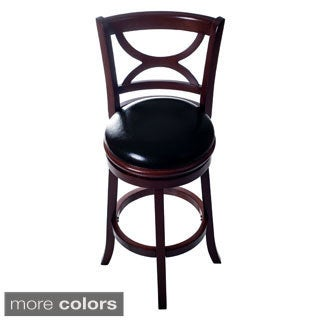 Lavish Home Classic Wooden Swivel Bar Stool with Back