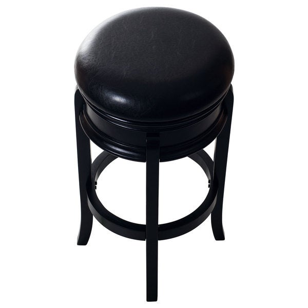 Lavish Home Classic Wooden Swivel Bar Stool