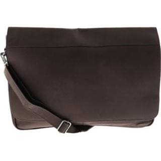 Piel Leather Professional Chocolate Laptop Messenger Bag