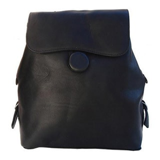 Women's Piel Leather Ladies Backpack 2348 Black Leather