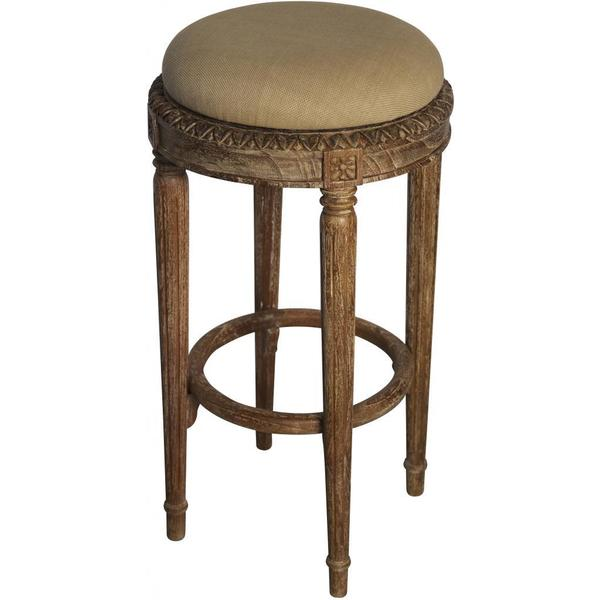 Ambrosia Grey Wash Bar Stool