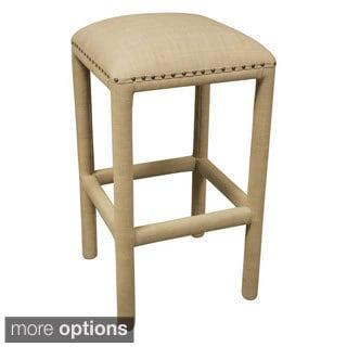 Beige Chenille Fabric Upholstered Barstool 15358099