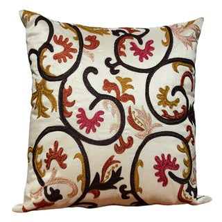 Auburn Textiles Multi-embroidered Accent Pillow