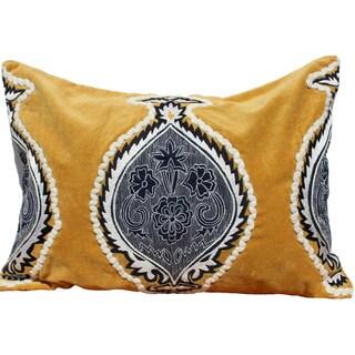 Auburn Textiles Velvet Embroidery Decorative Pillow Cover