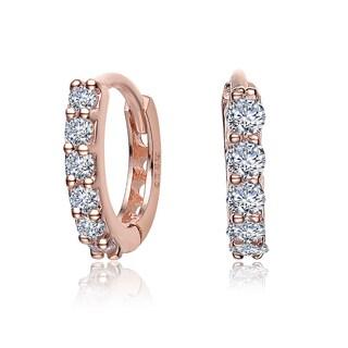 Collette Z Rose Goldplated Sterling Silver Cubic Zirconia Mini Hoop Earrings