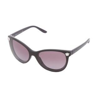 Versace Women's VE4266 Black/ Purple Cateye Sunglasses