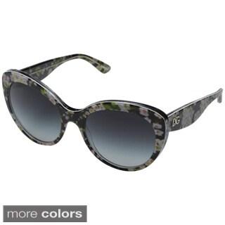 Dolce & Gabbana Women's DG4236 Floral Round Sunglasses