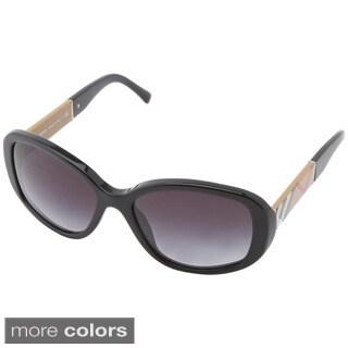 Burberry Women's BE4159 Gradient Oval Sunglasses