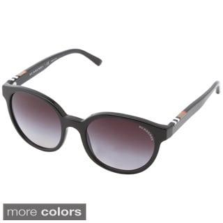Burberry Women's BE4151 Full Rim Round Sunglasses