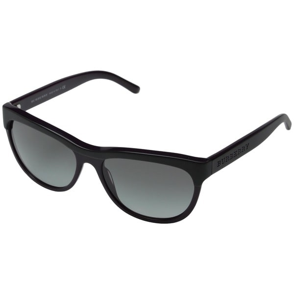 Burberry Women's BE4176 Black Thick Square Sunglasses