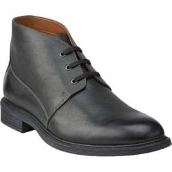 Bostonian Men's Wakeman Top Ankle Boot Black Smooth Leather