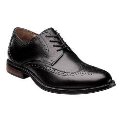 Men's Nunn Bush Ryan Wing Tip Oxford Black Leather