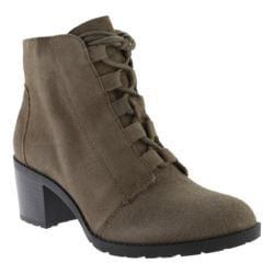 Anne Klein Women's Kadey Ankle Boot Green Suede