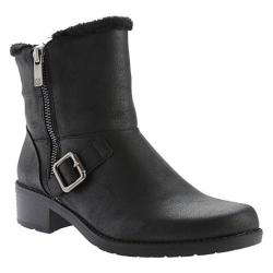Anne Klein Women's Lyvia Ankle Boot Black/Black Synthetic