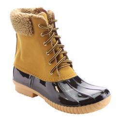 Women's Beston Duck-02 Boot Wheat Faux Leather/PVC/Faux Fur