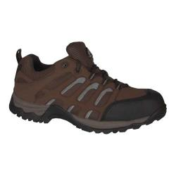 Men's Golden Retriever Footwear 1573 Athletic Safety Oxford Brown Leather/Nylon