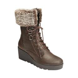 A2 by Aerosoles Women's Color Range Faux Fur Boot Dark Brown Combo