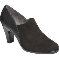 Women's Aerosoles Congress Heel Black Faux Leather/Faux Suede