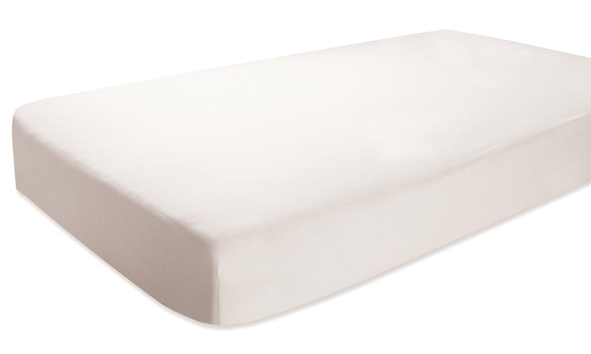 aden + anais Silky Soft Earthly White Crib Sheet
