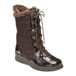 A2 by Aerosoles Women's Enamel Winter Boot Dark Brown Combo