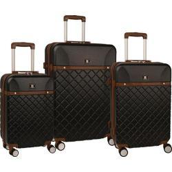 Women's Anne Klein Greenwich 4-Piece Hardside Luggage Set Black