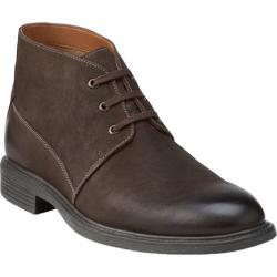 Men's Bostonian Wakeman Top Ankle Boot Dark Brown Leather
