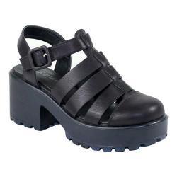 Women's Reneeze 0129JD005 Closed Toe Ankle Strap Sandal Black PU