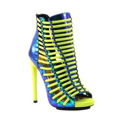 Women's Luichiny Crunch Time Bootie Cobalt/Yellow Leather