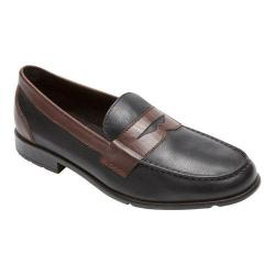 Men's Rockport Classic Loafer Lite Penny Black/New Brown Leather