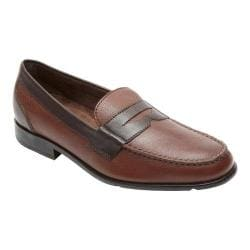 Men's Rockport Classic Loafer Lite Penny New Brown/Dark Bitter Chocolate Leather